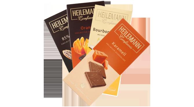 Heilemann Schokoladen<br>für jeden Geschmack