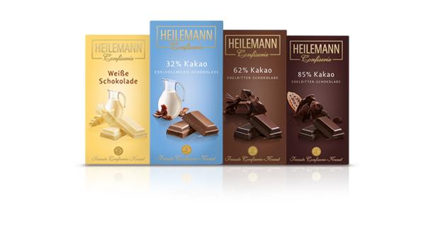 Massive Schokoladentafeln von Heilemann