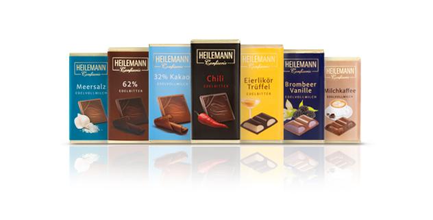 Mini-Schokoladentafeln von Heilemann