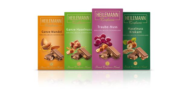 Nuss-Schokoladen von Heilemann