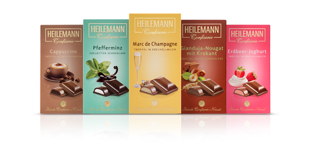 Praline-Schokoladen von Heilemann