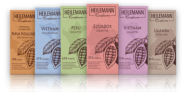 Ursprungsschokoladen von Heilemann